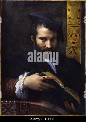 Portrait d'un homme avec un livre, ca 1524. On trouve dans la collection des musées de New York Trust . Photo Stock