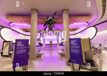 L'Angleterre, Londres, South Kensington, le Science Museum, la galerie Winton, architecte avec Design by Zaha Hadid Architects Photo Stock