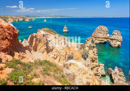 Ponta da Piedade, Lagos, Algarve, Portugal Photo Stock
