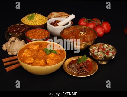 Sélection des aliments indiens Photo Stock