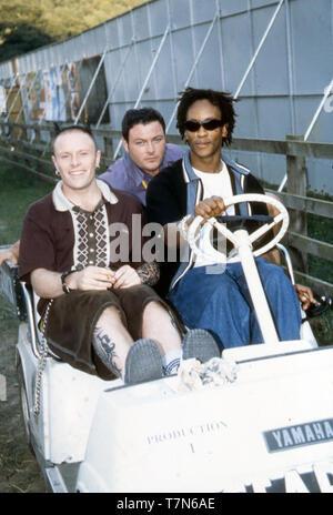 Groupe de rock anglais The Prodigy avec Keith Flint à Leeds en 1997 Photo Stock