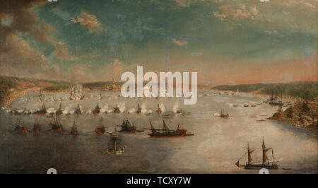 La bataille de Fredrikshamn en mai 1790, 1791. On trouve dans la collection de sj&#xf6;historiska museet. Photo Stock