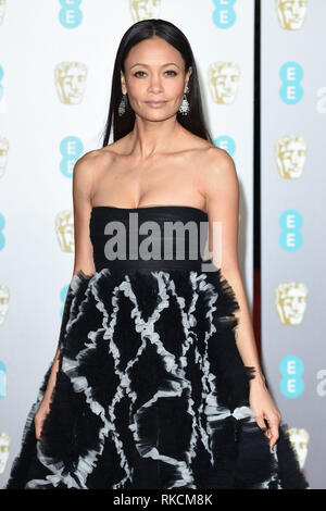 Londres, Royaume-Uni. 10 fév, 2019. Londres, Royaume-Uni. 10 février 2019 : Thandie Newton arrivant pour le BAFTA Film Awards 2019 au Royal Albert Hall, Londres. Photo : Steve Sav/Featureflash Crédit : Paul Smith/Alamy Live News Photo Stock