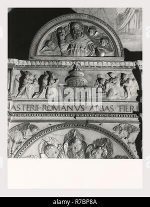 Lazio Roma Rome S. Gregorio Magno, c'est mon l'Italie, l'Italie Pays de l'histoire visuelle, Sculpture médiévale, mosaïques. L'architecture médiévale, sculpture architecture, sculpture, peinture, fresques, entièrement rénové en stuc/restauré en 16e et 17e siècle en style baroque, l'église le Monte Celio contient presque pas d'indication de paleo-Chrétienne/style médiéval de ses origines Photo Stock