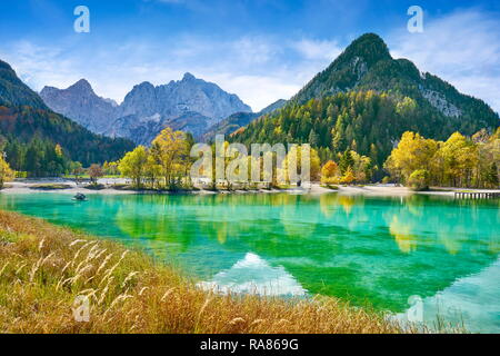 Jasna Lake, parc national du Triglav, Jasna Lake, les Alpes Juliennes, en Slovénie, slovénie Photo Stock