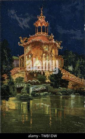"""""""Le Palais lumineux' à l'Exposition de Paris Date: 1900 Photo Stock"""