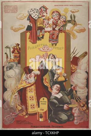 Des marionnettes à Noël, 1920. Collection privée. Photo Stock