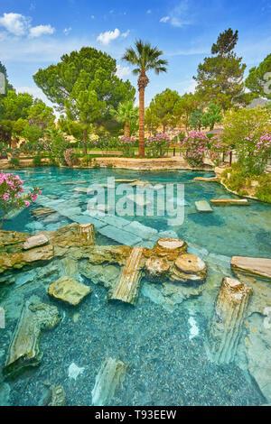 - Pamukkale, Turquie piscine Cléopâtre Photo Stock