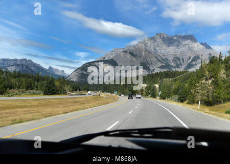 Road Trip dans les Rocheuses, Banff, parc national, BC, Canada Photo Stock