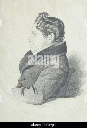 Portrait de Nikolay Adrianovich Divov (1792 à 1878), années 1830. On trouve dans la collection de musée d'état de A.S. Pouchkine, Moscou. Photo Stock