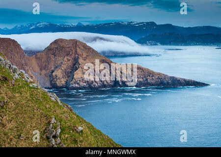 Paysage côtier à l'île de la côte ouest de l'Atlantique, Runde, Møre og Romsdal (Norvège). Photo Stock