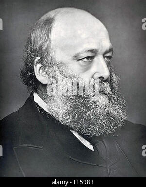 LORD SALISBURY Robert Gascoyne-Cecil (1830-1903) Homme d'État britannique vers 1880 Photo Stock