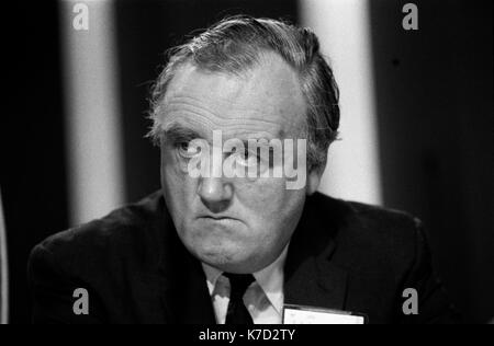 Willie Whitelaw MP portrait 1970 William Whitelaw Seigneur Whitelaw Conservateur Blackpool Conférence Jardins d'hiver 1973 UK HOMER SYKES Photo Stock