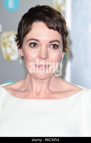 Londres, Royaume-Uni. 10 fév, 2019. Londres, Royaume-Uni. 10 février 2019 : Olivia Colman arrivant pour le BAFTA Film Awards 2019 au Royal Albert Hall, Londres. Photo : Steve Sav/Featureflash Crédit : Paul Smith/Alamy Live News Photo Stock