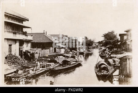Manille, Philippines - Tondo Canal. Date : vers 1920 Photo Stock
