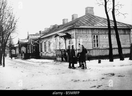 9 1917 1215 A1 15 Brest Litowsk construire Conférence Photo World War 1 1914 18 Russian German armistice du Photo Stock