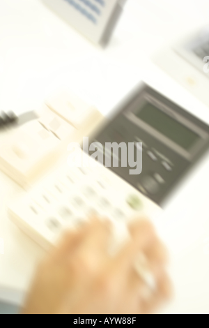 Close up of a hand making phone call Photo Stock