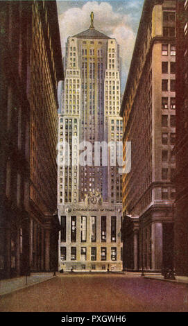 Chicago, Illinois, USA - Board of Trade Building. Date : vers 1942 Photo Stock