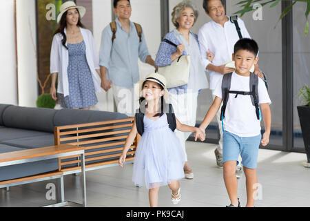 Happy family on vacation Photo Stock