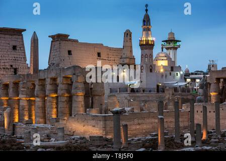 Ancienne église dans le temple de Luxor, Luxor, Egypte Photo Stock