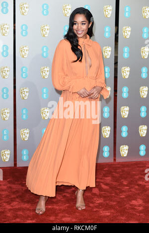 Londres, Royaume-Uni. 10 fév, 2019. Londres, Royaume-Uni. 10 février 2019 : Laura arrivant pour le Harrier BAFTA Film Awards 2019 au Royal Albert Hall, Londres. Photo : Steve Sav/Featureflash Crédit : Paul Smith/Alamy Live News Photo Stock