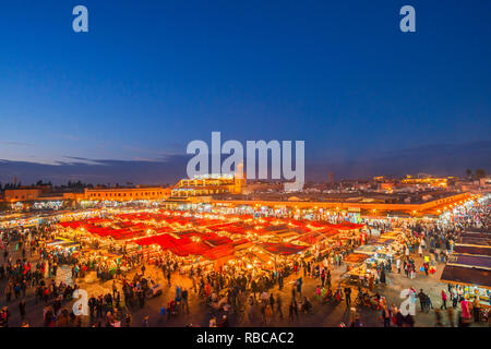 La place Jemaa el-Fnaa, Marrakech, Maroc Photo Stock