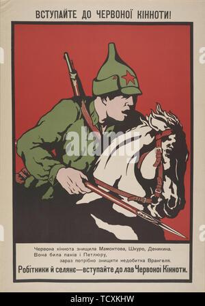 Inscrivez-vous la cavalerie rouge! , 1920. Collection privée. Photo Stock