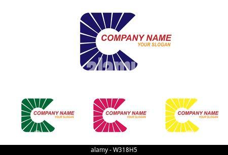 Modèle pour le logo de la société. Télévision design simple Photo Stock