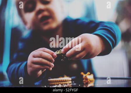 Enfant jouant Photo Stock