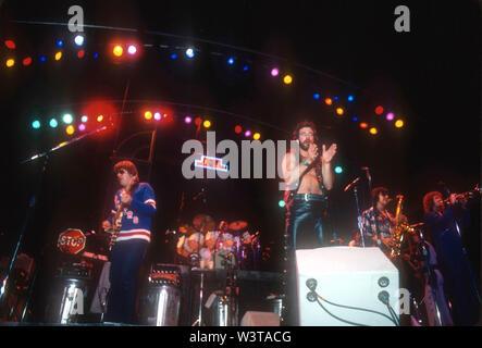 À propos de groupe rock US CHICAGO 1976 à Los Angeles, Californie. Photo: Jeffrey Mayer Photo Stock