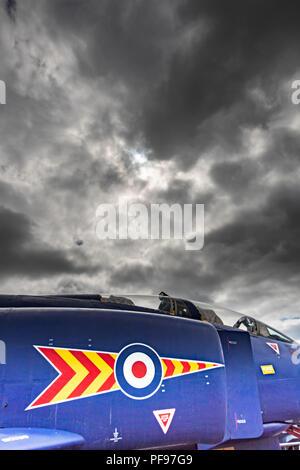 Fisher jet avion à Corsier (GE) à Tangmere, West Sussex, Angleterre Photo Stock