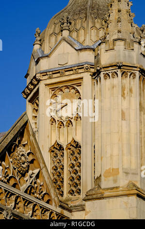 Détail architectural, King's College, Université de Cambridge, Angleterre Photo Stock