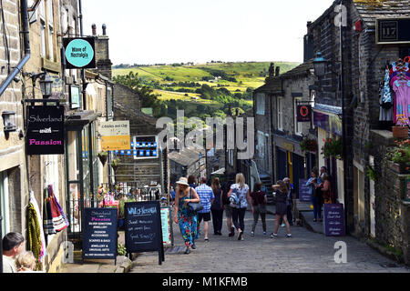 Rue Pavée, Howarth Howarth Yorkshire UK Photo Stock