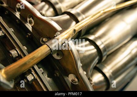 Vintage aircraft engine closeup Photo Stock