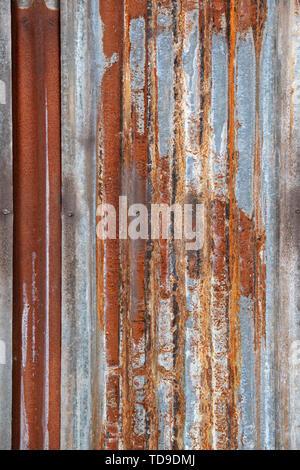 La rouille texture ondulée Photo Stock