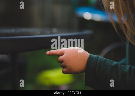 Pointant sur les gouttes de pluie Photo Stock