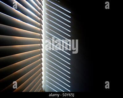 Résumé photo des ombres projetées par jalousie Photo Stock