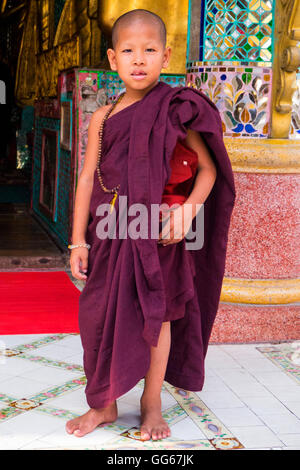 Jeune moine, Yangon Photo Stock