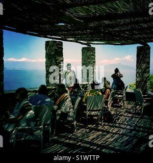 Terrasse d'un bar à Anacapri, l'île de Capri, Italie Photo Stock