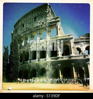 Restauré dans Colosseum Roma, Italie, août 2016 Photo Stock