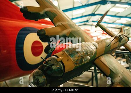 Le chasseur dans lequel Neville Duke a volé pour sécuriser son monde à la vitesse de l'air record de 727 km/h en 1953. Cet avion exceptionnel a été commandé en juin 1948 comme l'un des Photo Stock