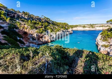 Calo des Moro, Majorque, Îles Baléares, Espagne Photo Stock