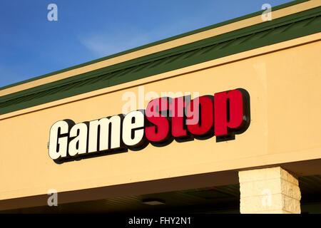 Arrêt de jeu avant de magasin Photo Stock