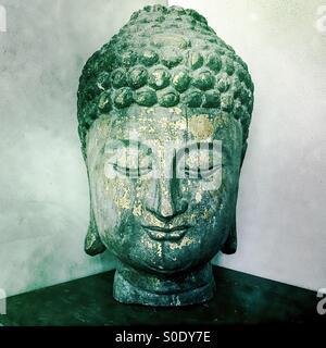 Bouddha en bois Photo Stock
