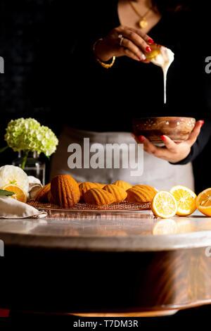 Myer sans gluten Madeleines au citron Photo Stock