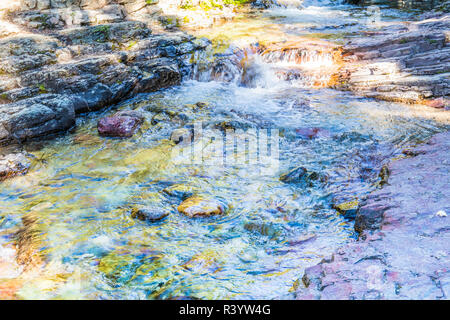 Le Glacier National Park, Montana. Stream Photo Stock