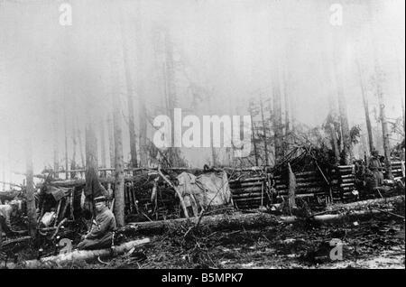 9 1916 318 A1 13 E Bataille de Postawy Ger 1916 1 Guerre mondiale position Front de l'est la défaite des Photo Stock