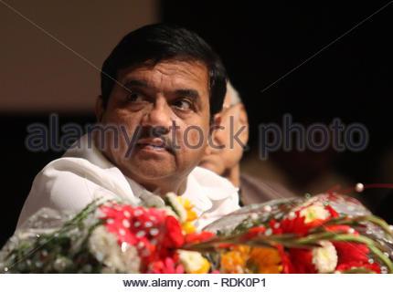 Le ministre de l'intérieur du Maharashtra R.R. Patil à l'occasion de la journée de la police de Mumbai Maharashtra, Inde le 2 janvier 2013. (Ramesh Nair) Photo Stock