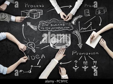 La planification d'affaires,stratégie,gestion de projet, Photo Stock