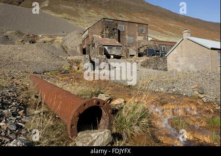 Vigueur Crag Mine, Borrowdale, Lake District, Cumbria. Crag force de travail était la dernière mine de Photo Stock